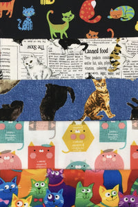 Cats Themed 5 Fat Quarter Pack
