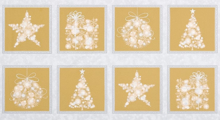 Gold and Silver Christmas Panel