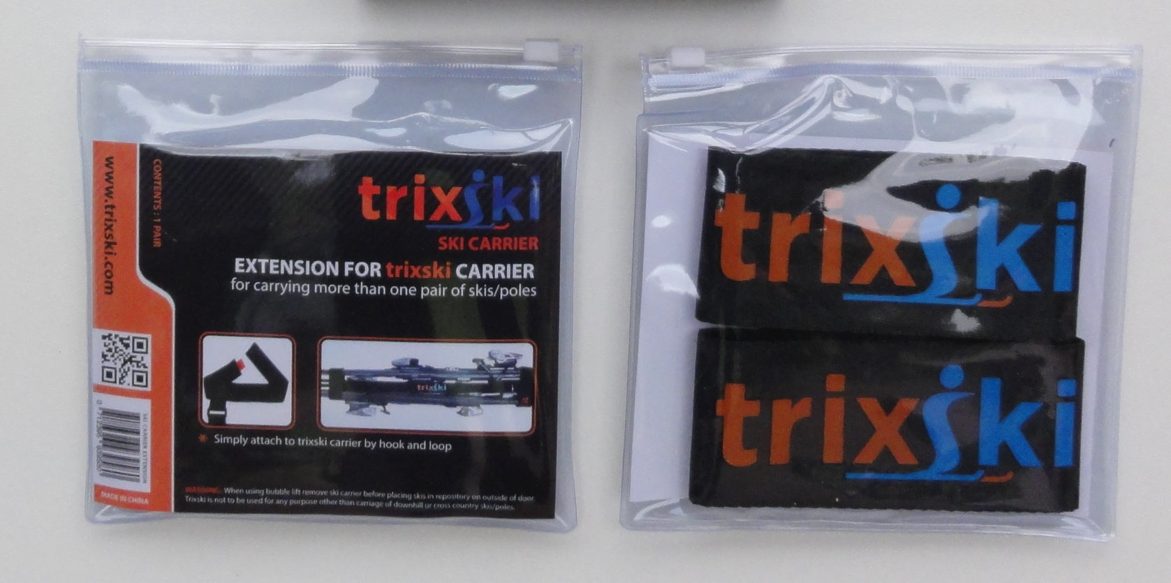 trixski Ski Carrier Extension Kit (Black or Red)