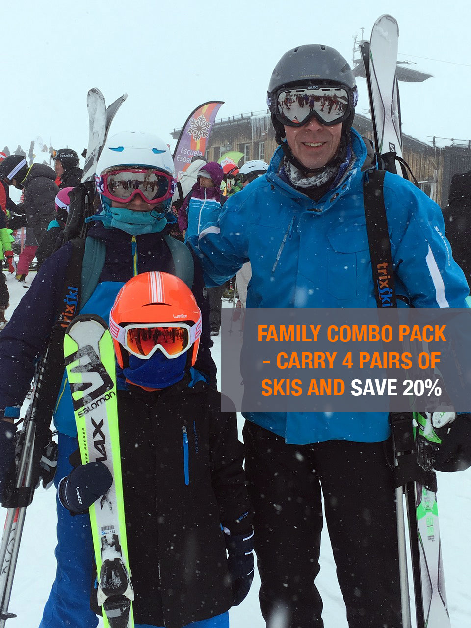 trixski Family Combo Pack (Black/Red)