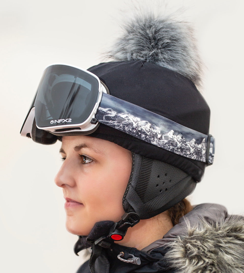 NEW trixski Ski Helmet Cover with Faux Fur Pom Pom