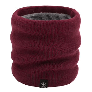NEW Unisex Ribbed, Fur Fleece Lined Neck Warmer (11 colours)