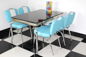 All Star Blue Booth Table & 4 Chair Set