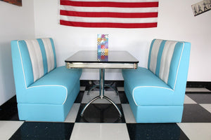 Ed's American Retro Booth Diner Set in Blue and White