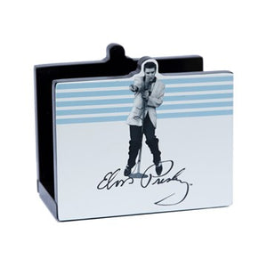 Description Elvis Presley White and Blue Napkin Holder