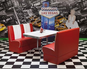 Ronnie American Retro Booth Diner Set in Red