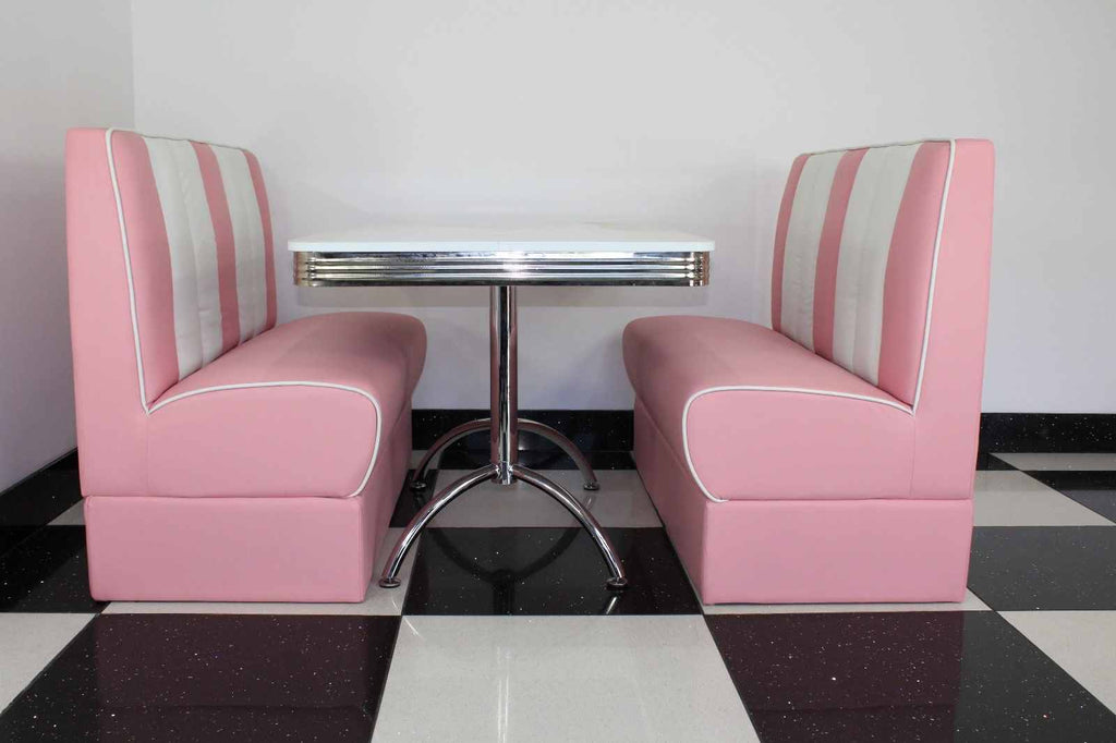 Ronnie American Retro Booth Diner Set Pink
