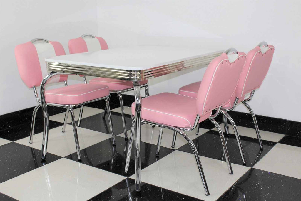 Smith's Pink 4 Chair Set