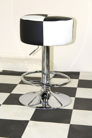 Black/White Round Stool