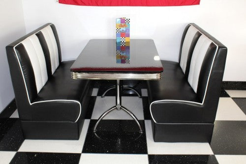 Ed's American Retro Booth Diner Set in Black