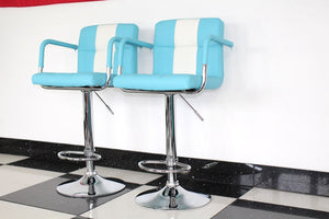 Blue Retro Dining Style Chair x2