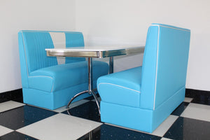 Budget Blue Nashville Booth Diner Set - Seconds