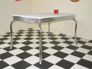 White Topped Four Legged Table - SECONDS
