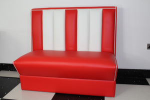 Red and White Commercially Graded Double Booth