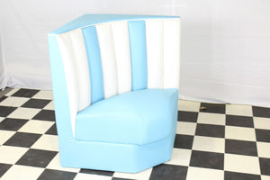 Retro Blue Corner Booth