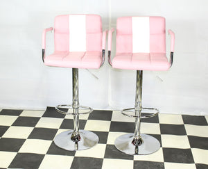 american pink stools
