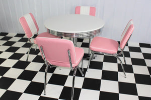 Budget Round Table Pink Diner Set