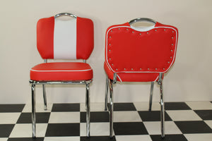 american red and white retro chair