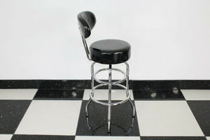 Shiny Black Stool