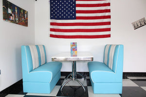 Ronnie American Retro Booth Diner Set in Blue