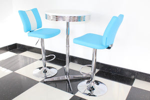 Blue Bistro Set with Claw Base Table