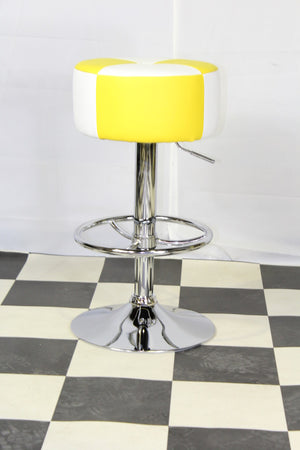 American Diner Retro Style Stool Yellow