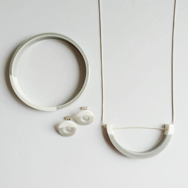 View and buy original handmade porcelain jewellery by Elisabeth Barry at The Biscuit Factory, Newcastle upon Tyne.