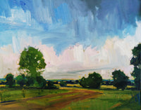 View and buy abstract landscape paintings by Emerson Mayes at The Biscuit Factory