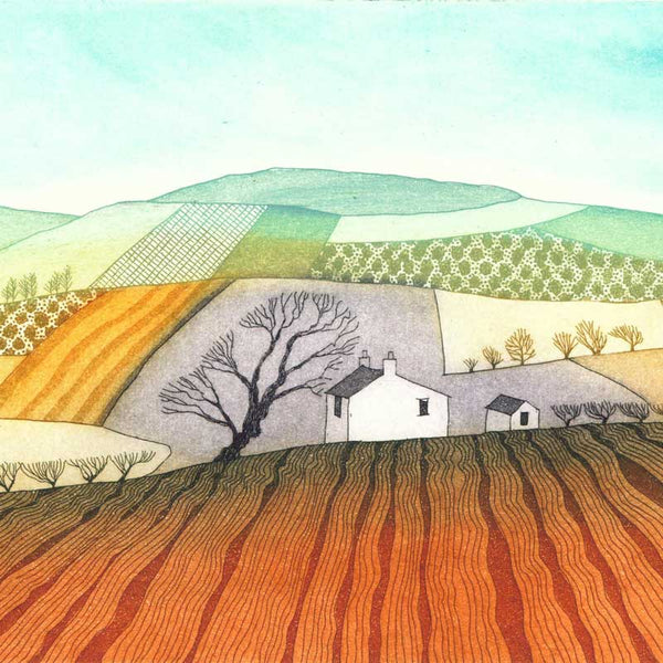 Printmaker Rebecca Vincent at The Biscuit Factory