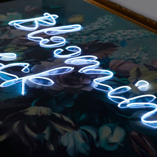 View and buy handmade neon signs and illuminated artwork by Light up North at The Biscuit Factory, Newcastle upon Tyne.