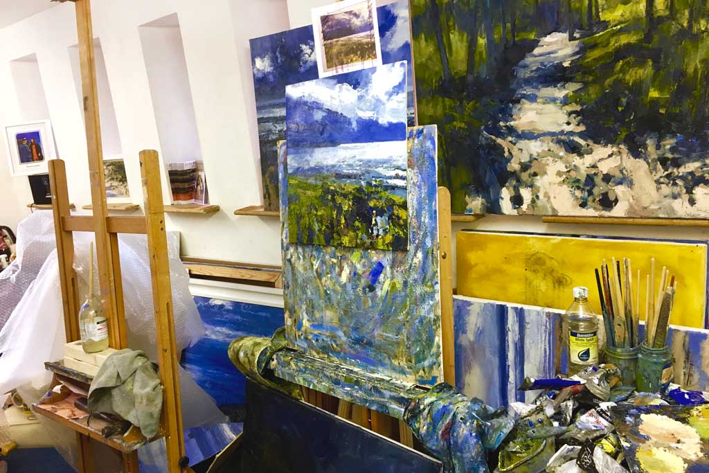 John Brenton's studio space