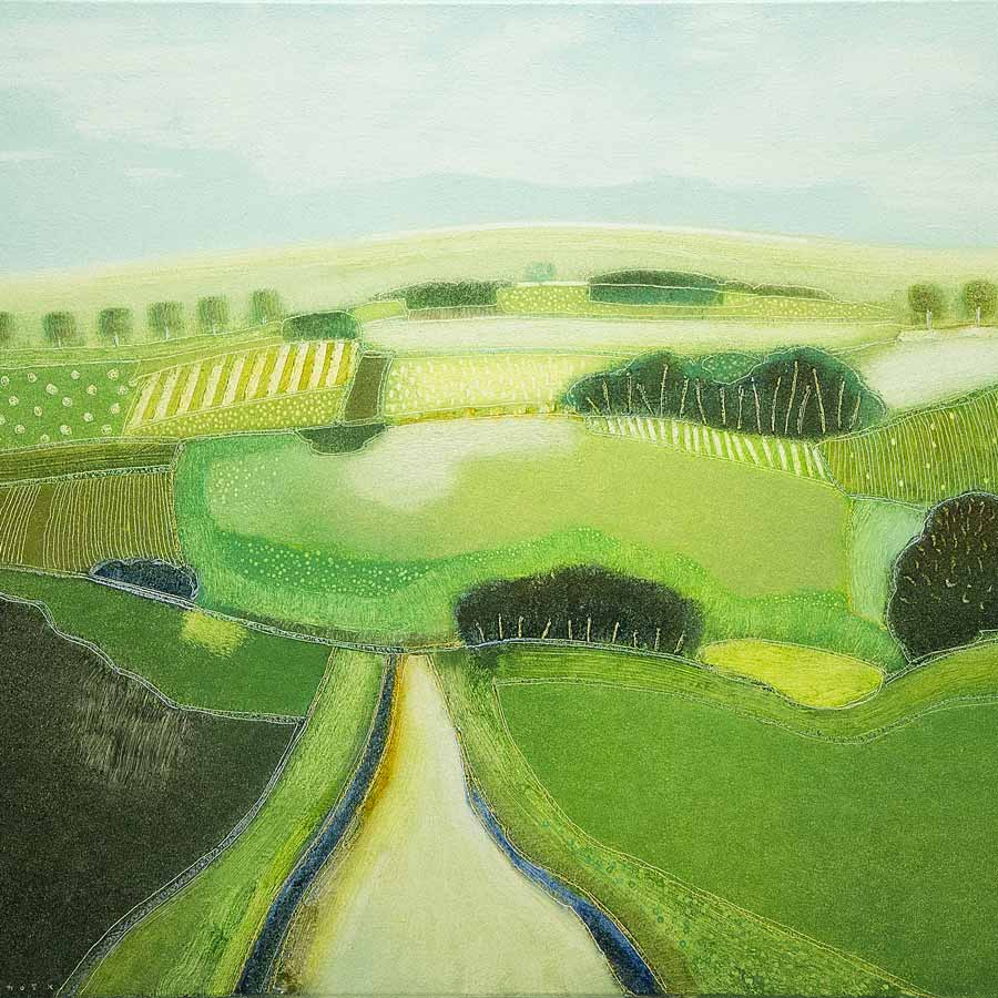 Buy 'The green, green grass', an original painting by Dutch artist Rob Van Hoek at The Biscuit Factory.