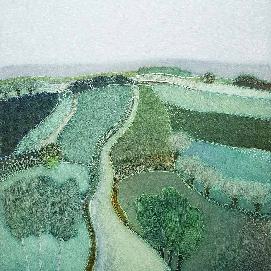 Buy 'Everyday is a winding road', an original painting by Dutch artist Rob Van Hoek at The Biscuit Factory.