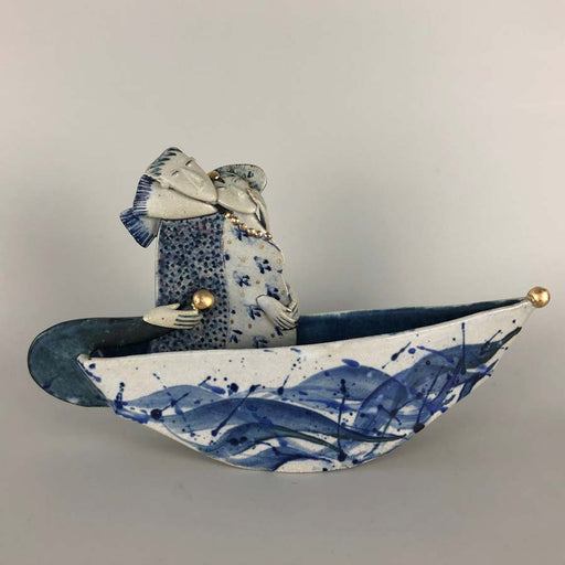 Buy 'Off on a jaunt', a handmade ceramic sculpture by Helen Martino at The Biscuit Factory.