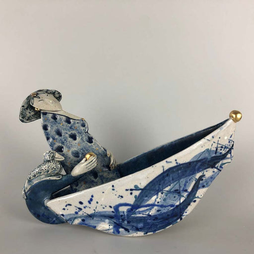 Buy 'Out to sea', a handmade ceramic sculpture by Helen Martino at The Biscuit Factory.