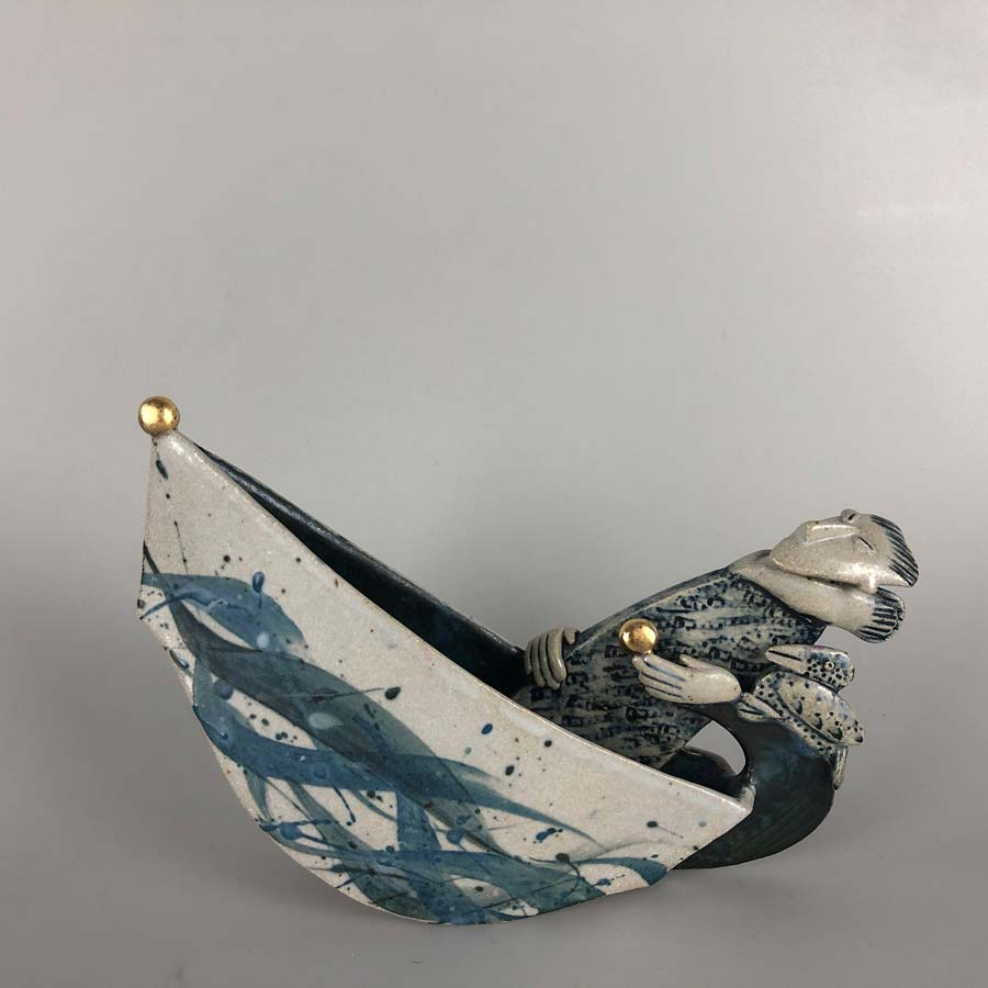 Buy 'Off and away', a handmade ceramic sculpture by Helen Martino at The Biscuit Factory.
