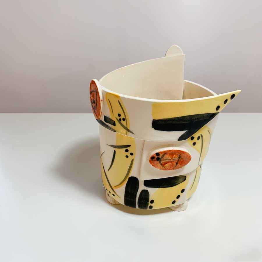 Buy 'VF8 Pot' handmade ceramic homeware by Varie Freyne at The Biscuit Factory, Newcastle upon Tyne.