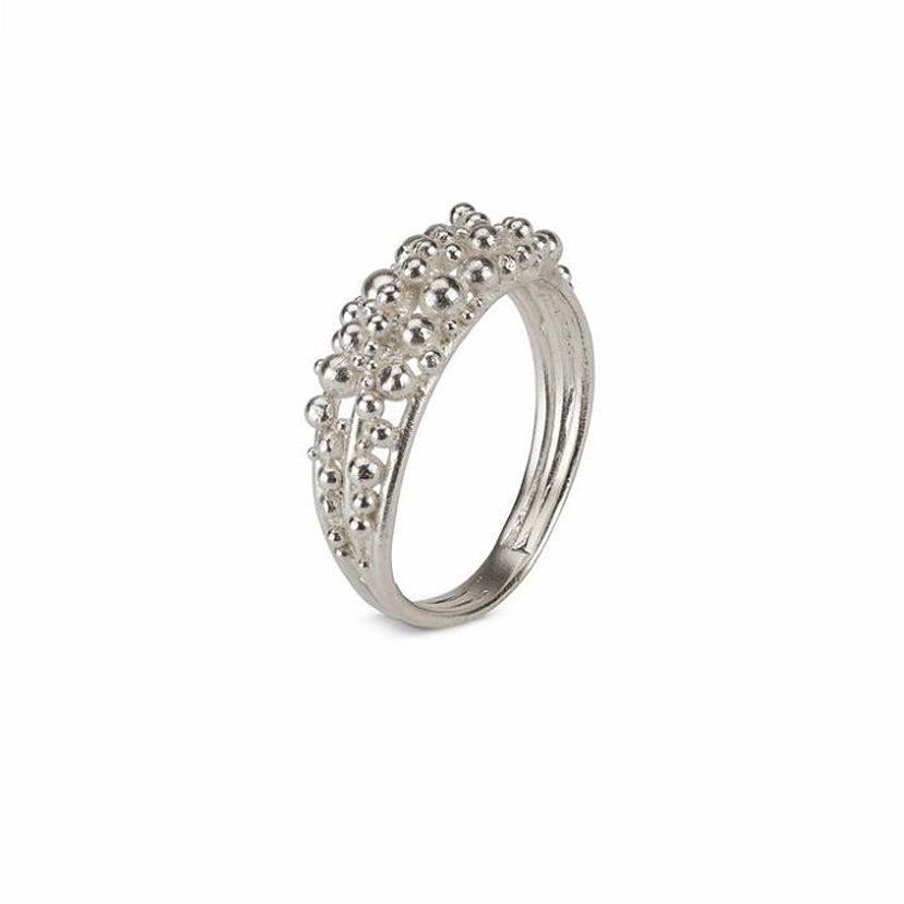 Buy 'Scattered Granule Ring', handmade jewellery by Hannah Bedford at The Biscuit Factory.
