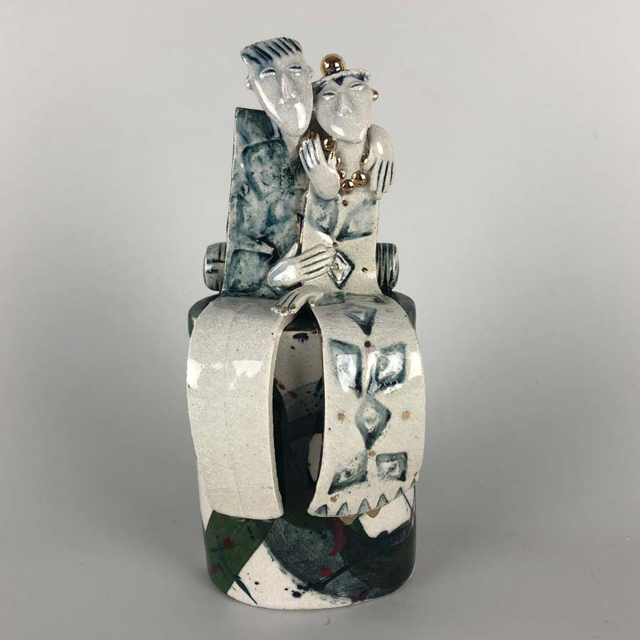 Buy 'Sweethearts', a handmade ceramic sculpture by Helen Martino at The Biscuit Factory.