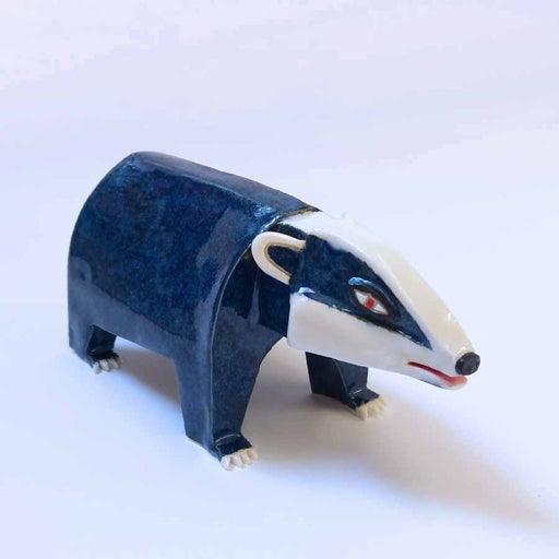 Buy 'Badger', an original handmade ceramic by Tristan Lathey at The Biscuit Factory.