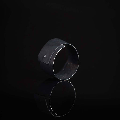 Buy 'Wrap Ring (Oxidised silver)' handmade jewellery by Hilary Brown at The Biscuit Factory, Newcastle upon Tyne.