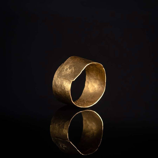 Buy 'Wrap Ring (Gold)' handmade jewellery by Hilary Brown at The Biscuit Factory, Newcastle upon Tyne.