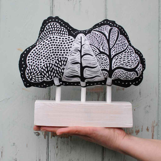 Buy 'Black Soft Tree', an original piece by textile artist Astrid Weigel at The Biscuit Factory