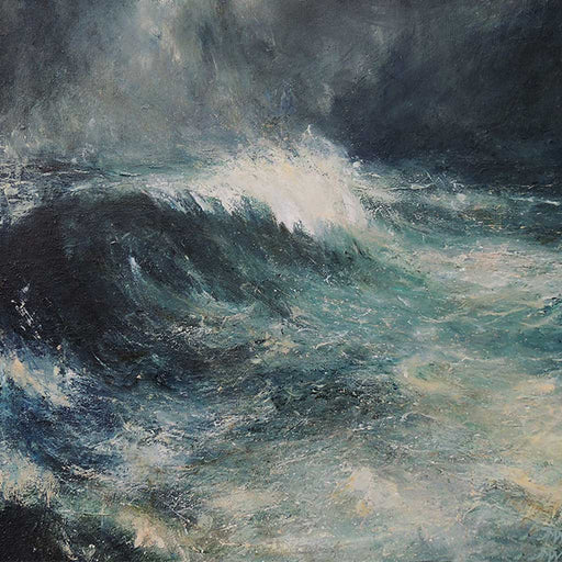 Buy 'Autumn Storm Farr Bay' an original oil painting by Jim Wright at The Biscuit Factory
