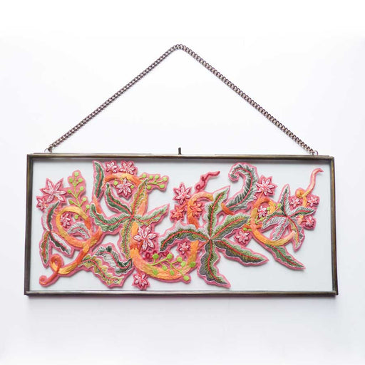 Buy 'Autumn Vines' handmade, framed textiles by Lucy Reid, at The Biscuit Factory.