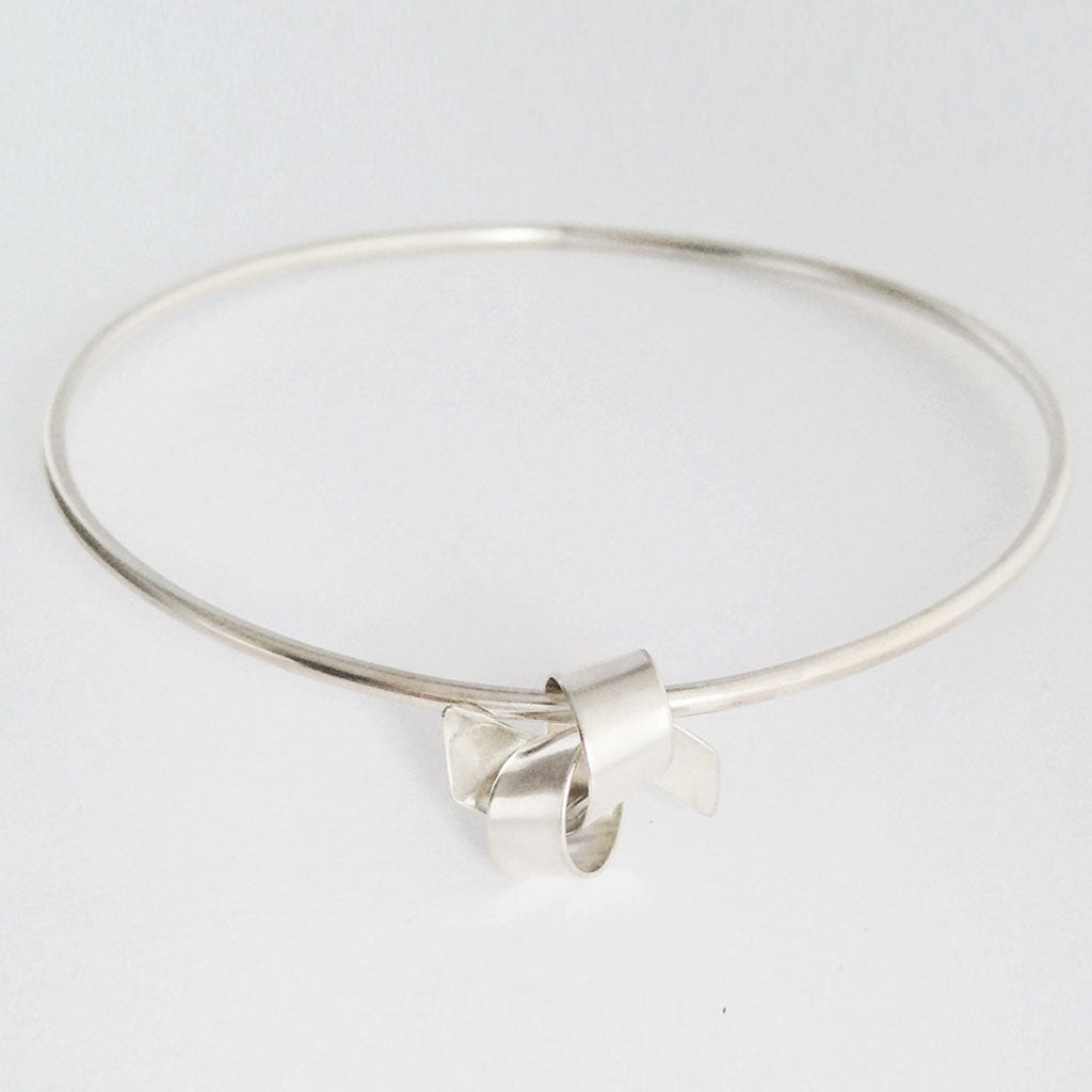 Buy 'Ribbon Knot Bangle' handmade jewellery by Jodie Hook at The Biscuit Factory
