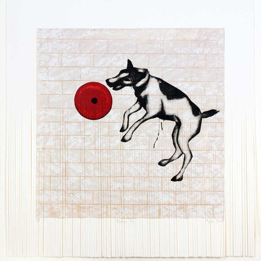 Buy 'Banksy's Dog Shredded', an original print by Mychael Barratt at The Biscuit Factory