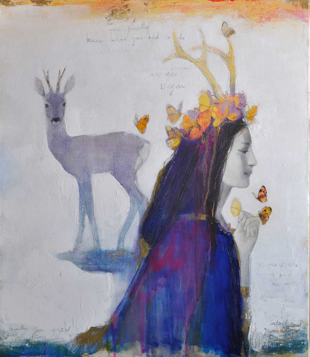 Buy 'Brigit' an original painting by Scottish artist Lucy Campbell at The Biscuit Factory