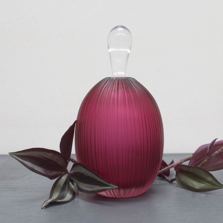 Buy 'Cesatii Scent Bottle (Ruby)' handmade glassware by Catriona MacKenzie at The Biscuit Factory