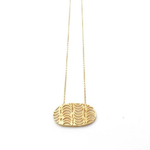 Buy 'Cadence Pendant (Gold)' handmade jewellery by Caitlin Hegney at The Biscuit Factory, Newcastle upon Tyne.